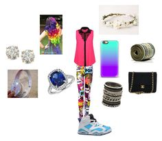 """Friday outfit"" by happynini ❤ liked on Polyvore featuring NIKE, Auriya, Blue Nile, Beats by Dr. Dre, Chanel and ALDO"