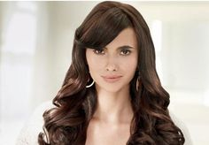 very long celebrity like women hairstyle with big light curls very beautiful
