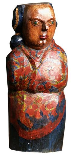 Arte Popular do Brasil: Maurino Araújo. Maurino Araújo, A Carola, madeira policromada. Reproduçao fotográfica Rugendas Galeria de Artes, Belo Horizonte-MG.
