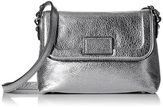 Marc Jacobs Silver Metallic Cross Body Bag - http://www.bagyou.net/marc-jacobs-bags/marc-jacobs-silver-metallic-cross-body-bag/