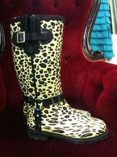 Leopard Print Welly's