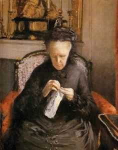 Gustave Caillebotte (French Impressionist Painter, 1848-1894) Portait of Madame Martial Caillebote (the Artist's Mother)