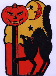vintage halloween decorations bing images - Antique Halloween Decorations