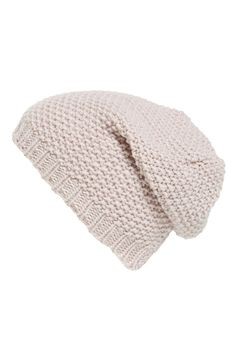 Could wear this cute, pink slouchy beanie every day this fall. / @nordstrom #nordstrom