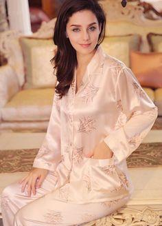 Luxury Orchid Silk Pajama and Pants Pyjama Satin 3ad612e4e