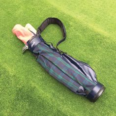 Everything you love in a Jones golf bag, now in Maide's signature Highland Blackwatch plaid. Golf Gifts, Golf Bags, Plaid, Leather, Gingham, Tartan