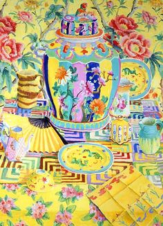 As a 'thank you' for all your good wishes, I'm sharing one of my favorite contemporary artists with you today. Kaffe Fass...