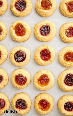 easy homemade jam thumbprint cookies are a holiday baking must. Get the recipe from .These easy homemade jam thumbprint cookies are a holiday baking must. Get the recipe from . Italian Cookie Recipes, Italian Cookies, Holiday Baking, Christmas Baking, Christmas Cookies, Christmas Snacks, Christmas Holidays, Easy Holiday Cookies, Xmas Food