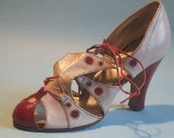 English grey and red leather sandal, c 1934