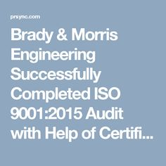 Energy management system procedures are key documents required fo brady morris engineering successfully completed iso 90012015 audit with help of certificationconsultancy fandeluxe Choice Image