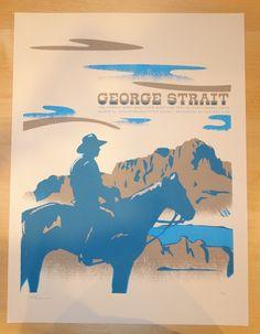 2014 George Strait - Nashville Concert Poster by Vastagh