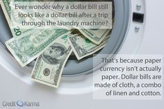 Have you ever accidentally put your money through the washer and dryer?