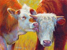 """Cow Lick"" original fine art by Rita Kirkman"