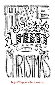 Have yourself a merry little christmas #printable #free