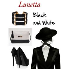 """Black and White"" by maryluna265 on Polyvore"