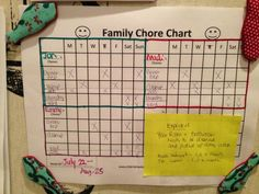 WFMW: Family Chore Chart - We are THAT Family