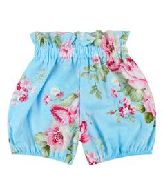 Another great find on #zulily! Blue & Pink Floral Shorts - Infant, Toddler & Girls #zulilyfinds