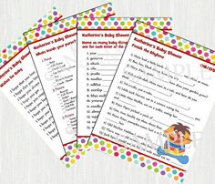 Sesame Baby Shower Games  Printable No. 110 by Moments2Celebrate, $20.00