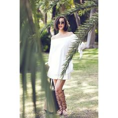 Off The Shoulder Tunic Gladiator Sandals found on Polyvore featuring shoes, sandals, gladiator sandals, greek sandals, gladiator sandals shoes, roman sandals and slim shoes