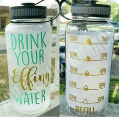 THIS LISTING IS FOR THE CLEAR 34oz SCREW TOP WATER BOTTLE. Links to other colors are listed below.     These 34oz water bottles are the perfect