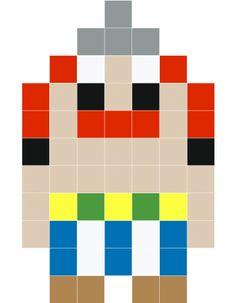 Obelix pixel art - Stickaz
