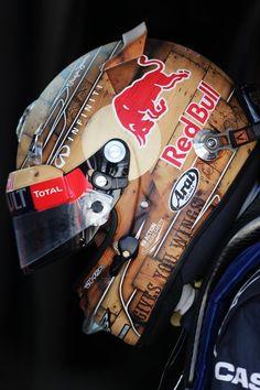 Sebastian Vettel y su casco diseño especial para el Gran Premio de los Estados Unidos