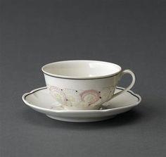 tasse décor Suzanne Lalique manufacture Théodore Haviland
