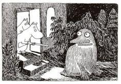 The Groke, Tove Jansson, the Moomintroll books. Tove Jansson, Moomin Valley, Goblin King, Book Illustration, The Hobbit, Troll, Illustrators, Disneyland, Book Art