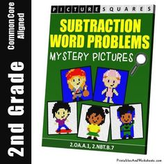 Grade 2 Subtraction Word Problems Mystery Pictures Coloring Worksheets 2nd Grade Math Worksheets, Math 2, Coloring Worksheets, Coloring Pages, Color Activities, Math Activities, World Problems, Addition And Subtraction, Grade 2