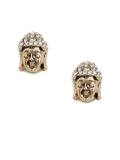 our gold buddha studs!