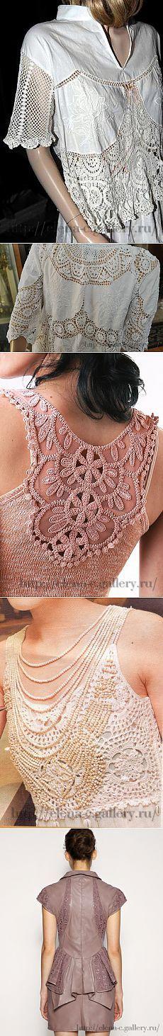 Вязаные детали в одежде | Валентина Смирнова | Простые схемы. Экономим время на Постиле