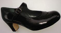 Dolores profesional - Piel Negro - no cosidos - tacon clásico 55mm -  Zapatos de flamenco Don Flamenco shoes.  98,00 €