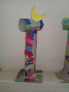 Como hacer esculturas de Miró recicladas. En esta ocasión David, de la Escuela El Pla de Elche han elaborado unas esculturas de Miró con tubos de papel reciclado y otros elementos. En estas fotografías podéis ver la sencillez de esta... Joan Miro Paintings, Paintings Famous, Artists For Kids, Art For Kids, Famous Abstract Artists, Modern Artists, 3rd Grade Art Lesson, Toilet Paper Art, Art Activities For Kids