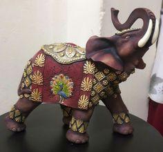 Elephant Sculpture, Elephant Art, Fall Dining Table, Summer Activities, Pottery Art, Accent Decor, Art Drawings, Canvas, Crafts