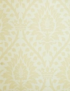 Furnvill Wallpaper Cream With Darker Damask Floral Design