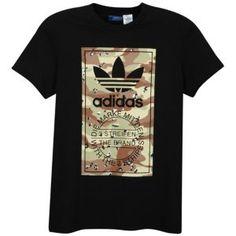 adidas Originals Camo Label Short Sleeve T-Shirt - Men's - Medium Grey Heather