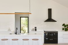 Surrounded by the rolling hills of Barrabool is Eve and James Coates' modern farmhouse — a custom-built Hamlan home for a couple who love the outdoors. Custom Homes, Modern Farmhouse, Eve, Kitchens, Outdoors, Couple, Table, Furniture, Home Decor