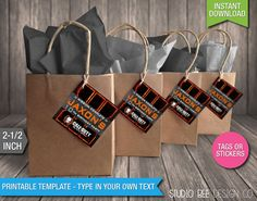 Call of Duty Black Ops 3 Favor Tags - INSTANT DOWNLOAD - Printable COD Birthday Favor Bag Tags - DiY Personalize & Print (BOst02) Camouflage Birthday Party, Army Birthday Parties, Happy Birthday Boy, Birthday Favors, Birthday Fun, 10th Birthday, Harry Birthday, Call Of Duty Cakes, Black Ops 3