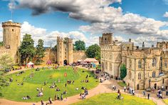 Sophie Campbell sleeps in a king's bed and enjoys medieval games as Warwick   Castle, a royal stronghold, opens its doors for family fun