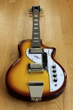 Eastwood Airline Twin Tone Honeyburst = tribute to the Supro Dual Tone, limited color run of only 12gtrs