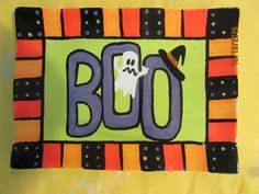 BOO! / Paint your own Pottery / Painted at Kiln Creations, Noblesville, IN. www.kilncreations.net