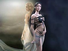 sexy Fantasy Art Women  | ... Image Gallery :: Fantasy Women Backgrounds :: fantasywomanbg26
