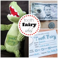 Tooth Fairy Ideas - last minute ways to become the tooth fairy