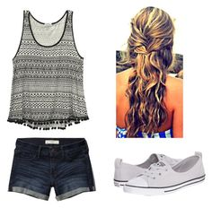 """""""Untitled #14"""" by jessicarose17890 on Polyvore featuring Abercrombie & Fitch, Wet Seal and Converse"""