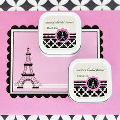 Personalized Square Parisian Candle Tin