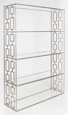 HAMMERED META ETAGERE WITH CLEAR :: DISPLAY CURIOS & ETAGERES :: Furniture for every room in your home - and patio! :: Union
