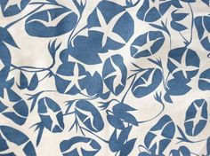 """Sara Lee Parker's """"Morning Glories"""" fabric print in """"Midnight"""""""