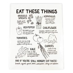 This poster is the perfect thing to hang up in your kitchen - it reminds you (in a nice way) of all the things you should be including in your diet.