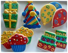 The Sugar Tree Birthday Cookies