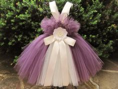 Beautiful and elegant tutu dress, EGGPLANT WITH IVORY, for babies and toddlers. This dress has a stretchy, waffle/crochet type bodice. It can fit a Purple Tutu Dress, Tulle Tutu, Dress Red, Girls Easter Dresses, Girls Pageant Dresses, Little Girl Dresses, Tutu Dresses, First Birthday Tutu, Costumes